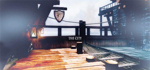 The Elder Scrolls V: Skyrim Skyrim the elder scrolls tesv vg: Skyrim gif: mytes riften My favourite city
