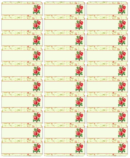 Rose labels 3 template