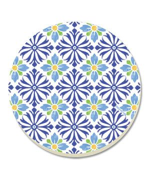 This Mediterranean Coaster - Set of Four by CounterArt is perfect! #zulilyfinds