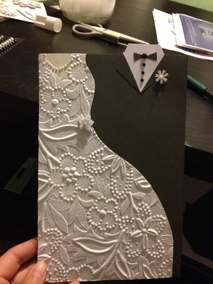 Wedding card #crafts #diy #cards