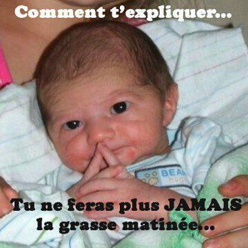 Photo drôle, insolite : bébé qui ne laisse pas dormir ses parents