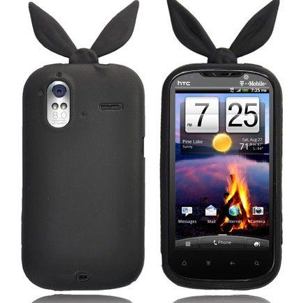 Bunny (Sort) HTC Amaze 4G Deksel