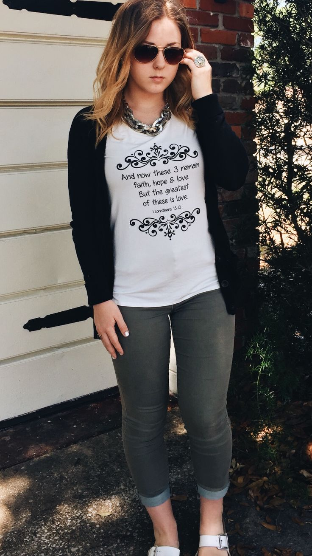 1 Corinthians 13:13 t-shirt.