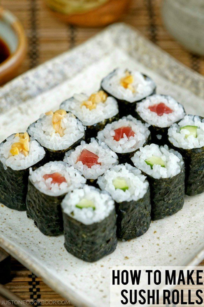 {Japan} How To Make Sushi Rolls with Video & Step-By-Step Photo Tutorials | Easy Japanese Recipes at JustOneCookbook.com