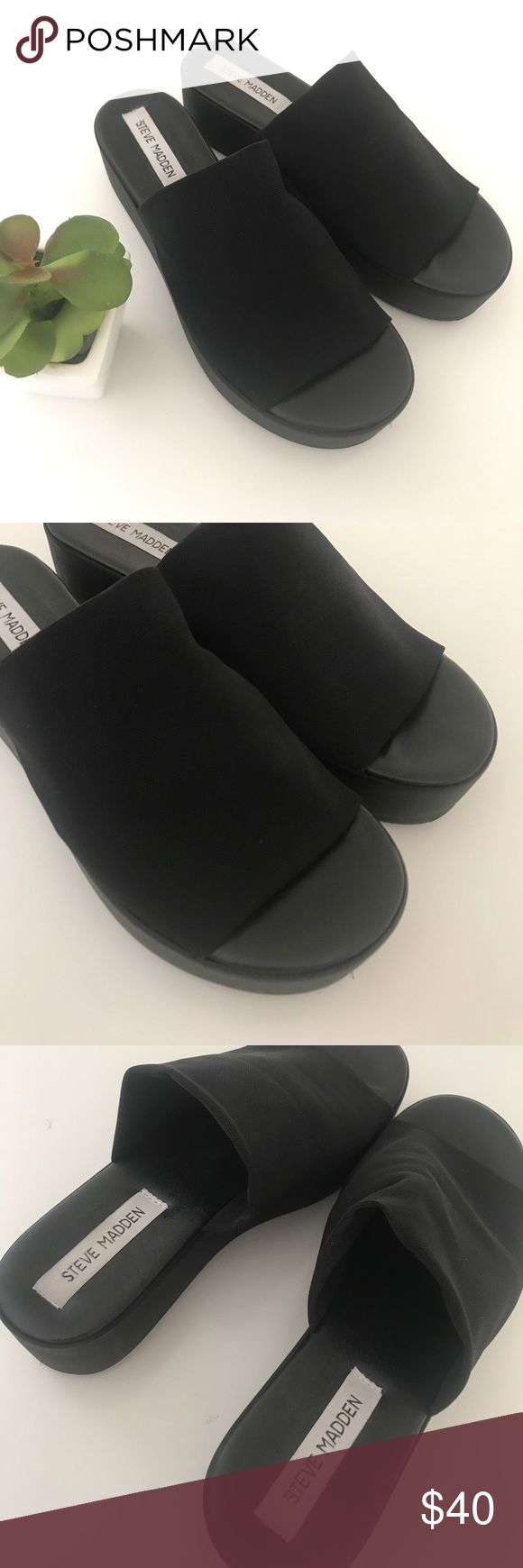 🔥 Steve Madden Platform Sandals 🔥 In excellent condition super clean inside and out pretty much brand new! Size women's 8 sorry no trades Steve Madden Shoes Platforms