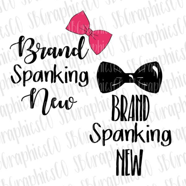 Brand spanking new svg, eps, dxf, png, cricut or cameo, scan N cut, new baby svg, bow svg, baby girl svg, baby boy svg, bow tie svg by JMGraphicsCO on Etsy
