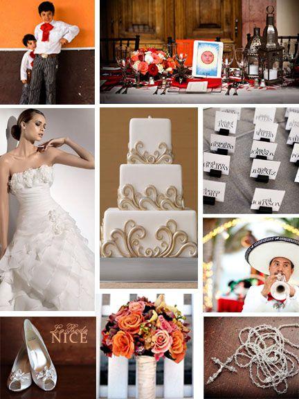Boda Mexicana en Hacienda Naranja / Cafe / Dorado Hacienda Mexican Orange / Brown / Gold Wedding