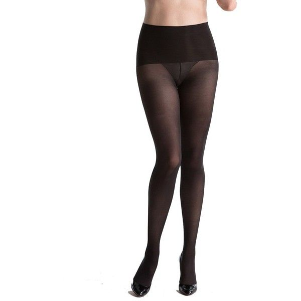 SPANX Haute Contour Tights, Black, A at Amazon Women's Clothing store:... ($42) ❤ liked on Polyvore featuring intimates, hosiery, tights, spanx pantyhose, spanx stockings, spanx tights, pantyhose hosiery and sheer tights