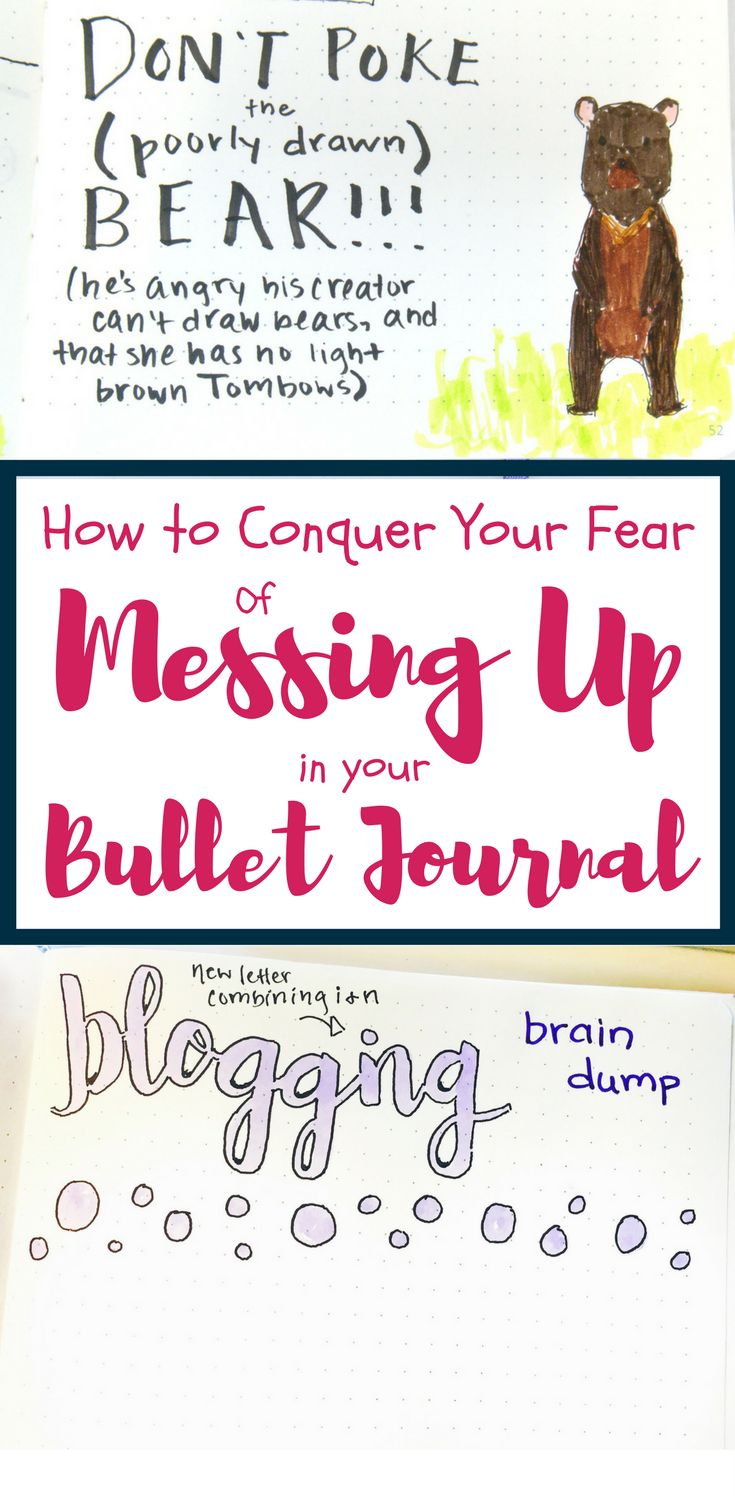 Are you messing up in your bujo and it's letting you down? Need some help with fixing mistakes in your bullet journal? This blog post explores tools to fix mistakes, but it also provides ideas to prevent them. It also takes the concept a step further by examining your thought process when you make a mistake. You'll find at least one of the 17 concepts in the article super helpful for conquering any mistake! #bujo #bujomistakes #planning #mistakes #bulletjournal #bulletjournalcommunity