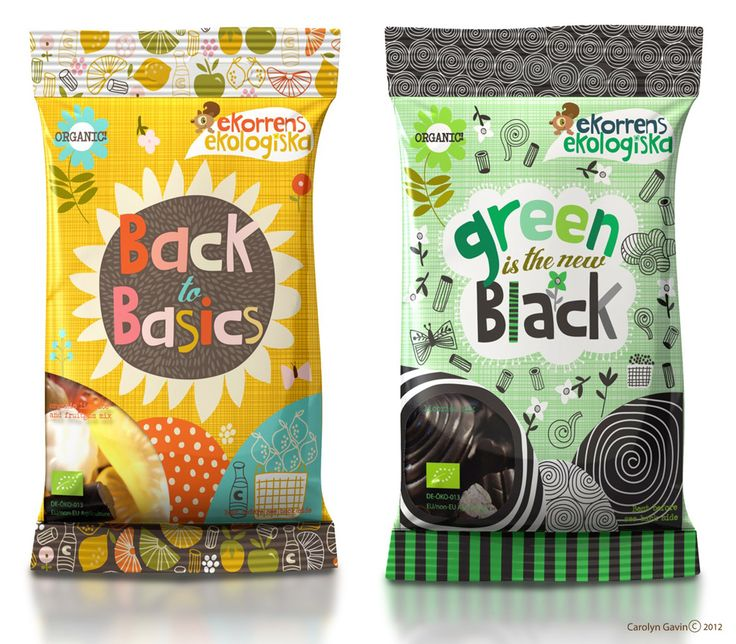 Here's more fun #packaging for you Paola, Organic Swedish Candy. Ekorrens Ekologiska. from ecojot designer Carolyn Gavin PD