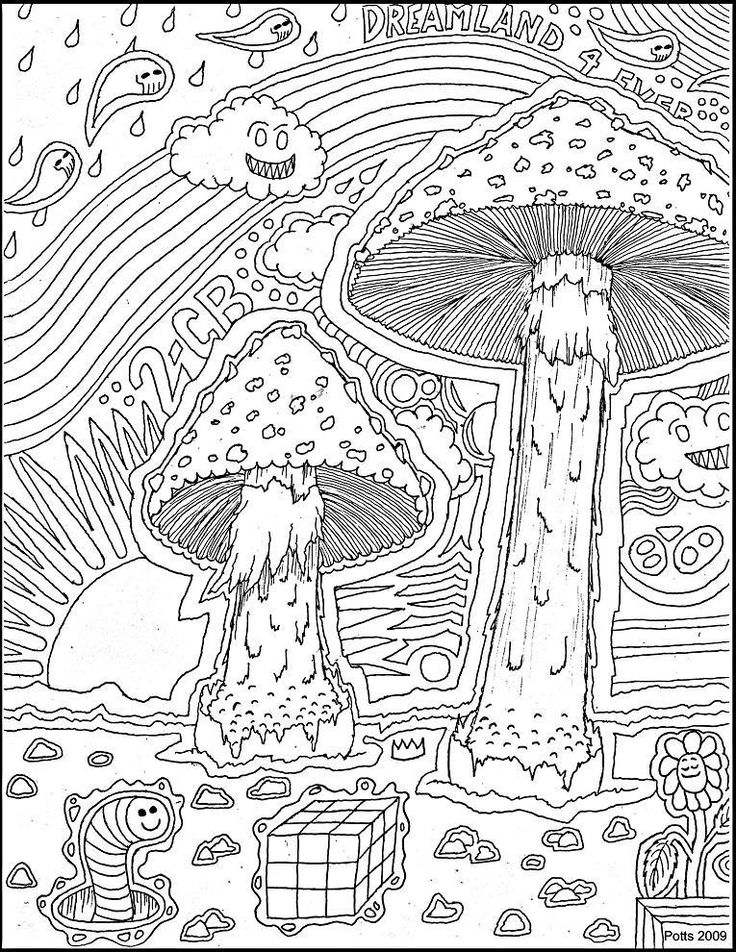psychedelic coloring pages - photo#46