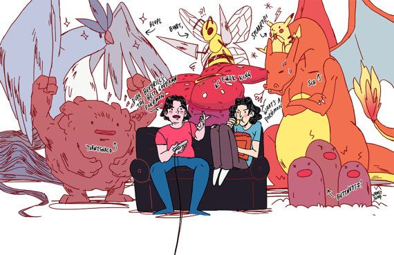 Game Grumps Pokemon FireRed Print by kuru731 on Etsy