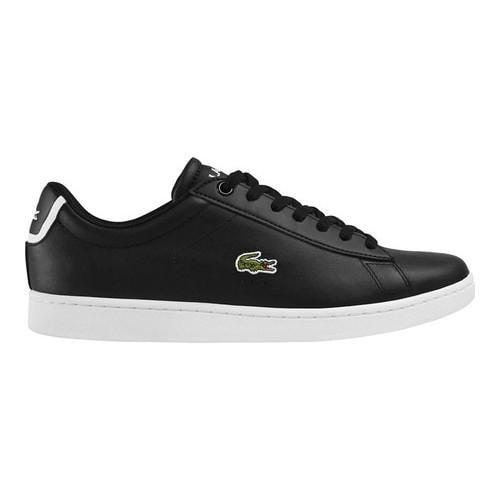 premium selection 8c9f1 67208 Men s Lacoste Carnaby EVO BL 1 Sneaker Black Leather Synthetic (US Men s  8.5 M (Regular))   Products   Leather sneakers, Lacoste men, Sneakers