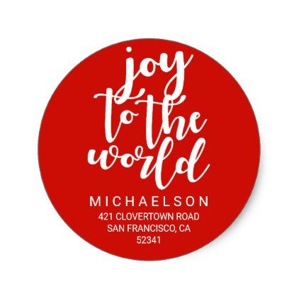 Joy to the World | Christmas Address Label - Xmas ChristmasEve Christmas Eve Christmas merry xmas family kids gifts holidays Santa