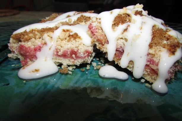 I loved experimenting with Rhubarb this spring with my CSA box!! Yummm... These were amazing. Strawberry Rhubarb Dessert Bars.