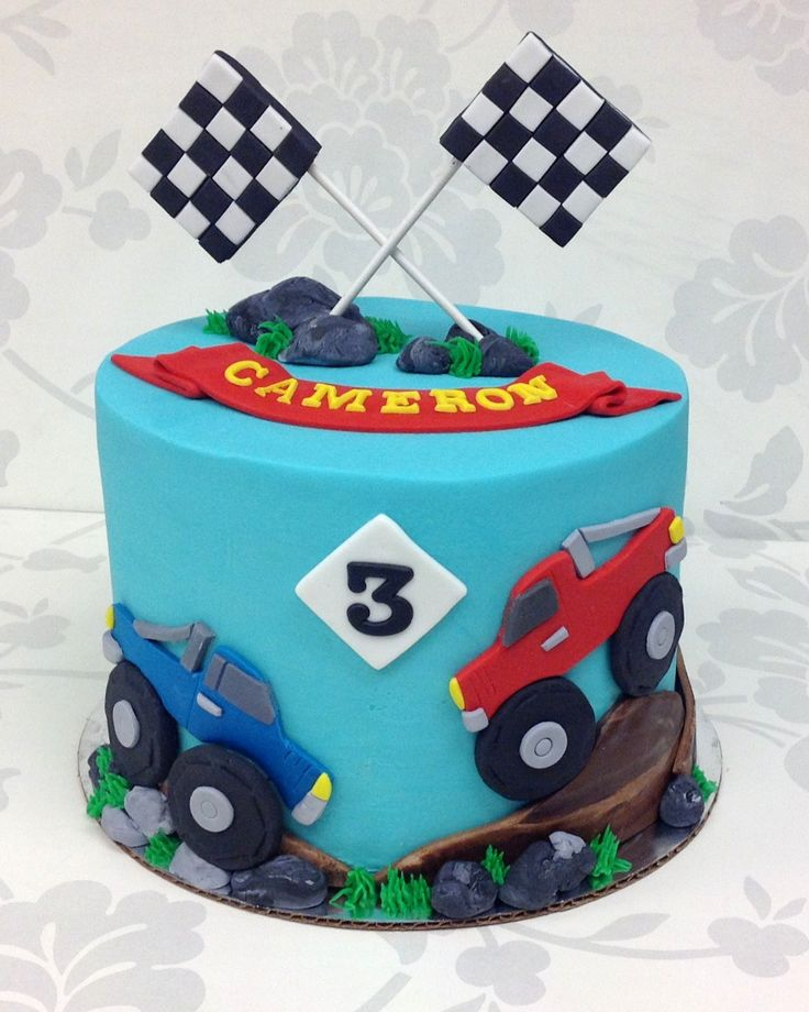Monster Truck Cake Boy Birthday Pinterest Cakes
