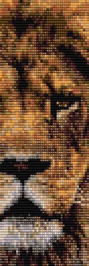 Leo lion Peyote Bracelet Beading Pattern for by BellestriOriginals