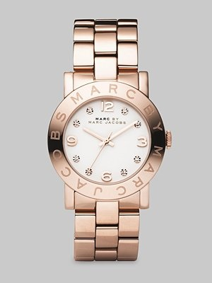 Marc by Marc Jacobs  Rose Gold Finished Stainless Steel Bracelet Watch