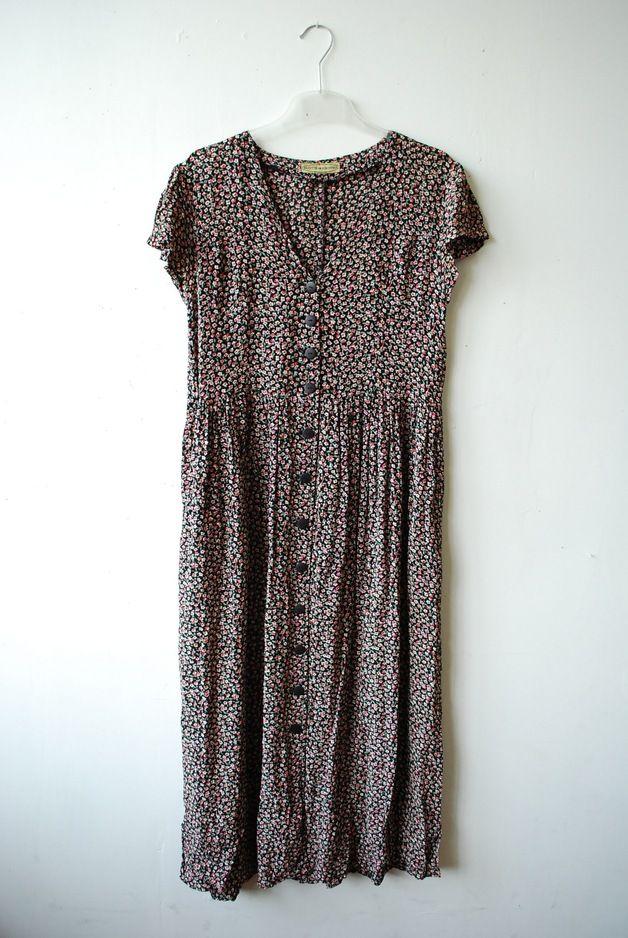 Vintage Kleider - Blumenkleid lang - ein Designerstück von OLENKA-vintage bei DaWanda