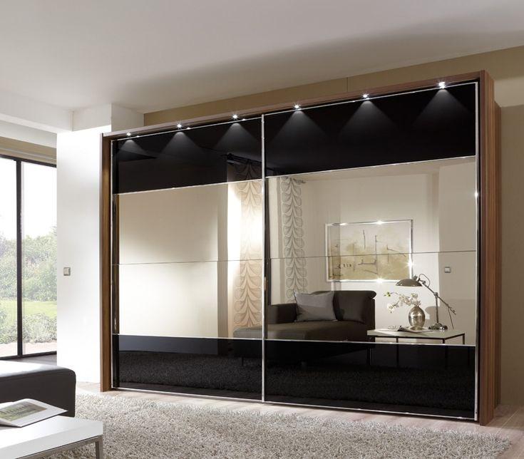 2-дверный шкаф-купе с зеркалом Серебро. Специализируемся на стеклянных и зеркальных фасадах, декоре из зеркал. Телефон (495) 640-40-06
