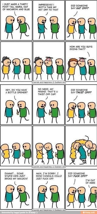 Cyanide and Happiness-Hat off