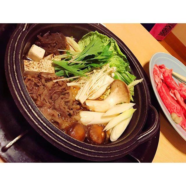 飛騨牛のすきやき 美味かったー すきやき食べたい #高山ラーメン からのすき焼き #GW#飛騨牛#すき焼き#肉#高山 #japanesefood #instafood #hinosara