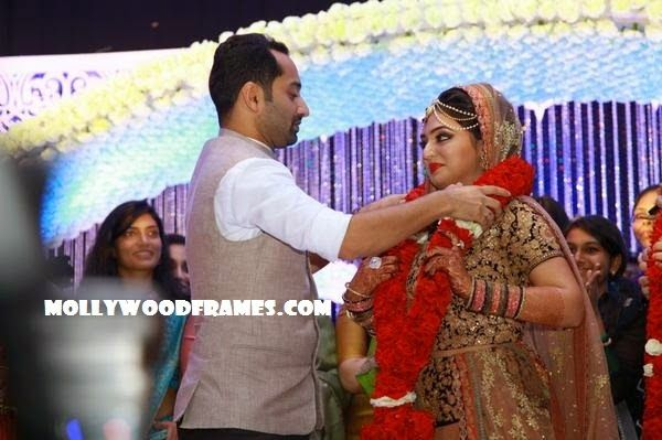 Mollywood Frames. | Malayalam cinema | Malayalam films: Fahad Fazil and Nazriya marriage moments