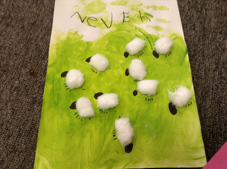 'The sheep are in the meadow' art activity to go with Little Boy Blue
