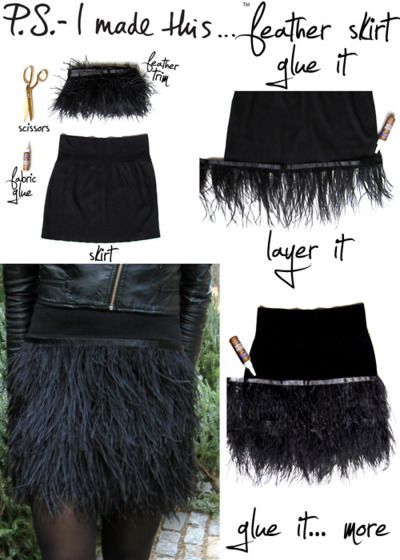DIY Feather Skirt