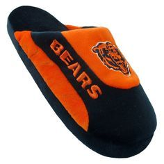 Comfy Feet NFL Low Pro Stripe Slippers - Chicago Bears | from hayneedle.com