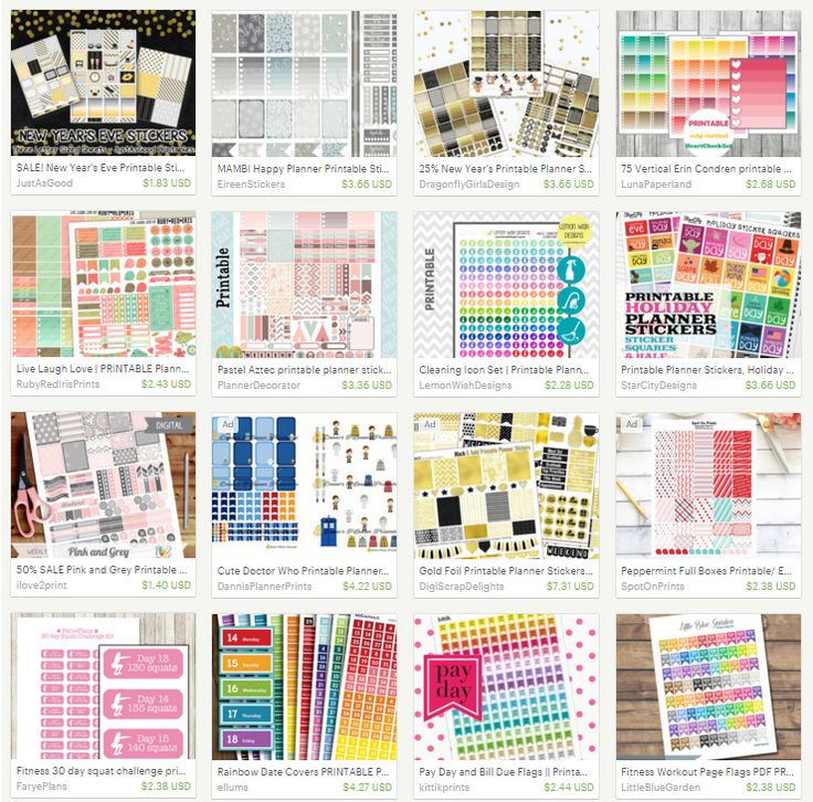 printable planner stickers and labels