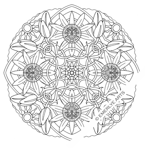 passionflower mandala tattoo cynthia emerlye vermont artist and kirigami papercutter complex. Black Bedroom Furniture Sets. Home Design Ideas