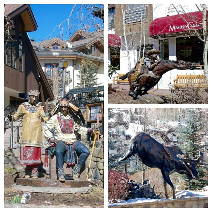Sculptures and statues around Vail Colorado! Read why you should travel to Vail Colorado this winter!