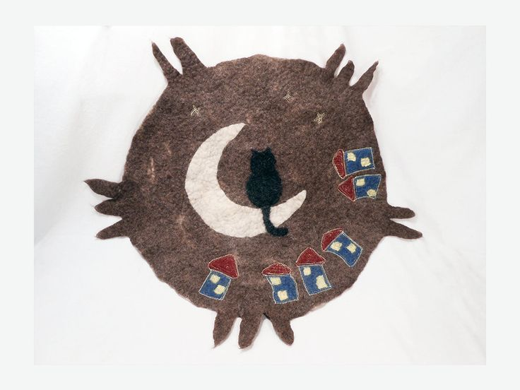 Felt Cat Bed, Dog bed, Felted Cat mat, Dog mat, Cat house mat, Big cat bed, Felt wool bed, Felted cat rug, Cat cave, Round rug, Cat house by BuriFelt on Etsy