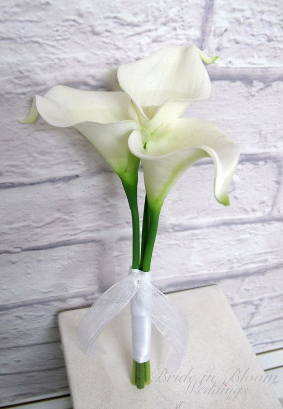 Flower Calla Lily Wedding Bouquet By Brideinbloomweddings 35 For Only 3 Stems