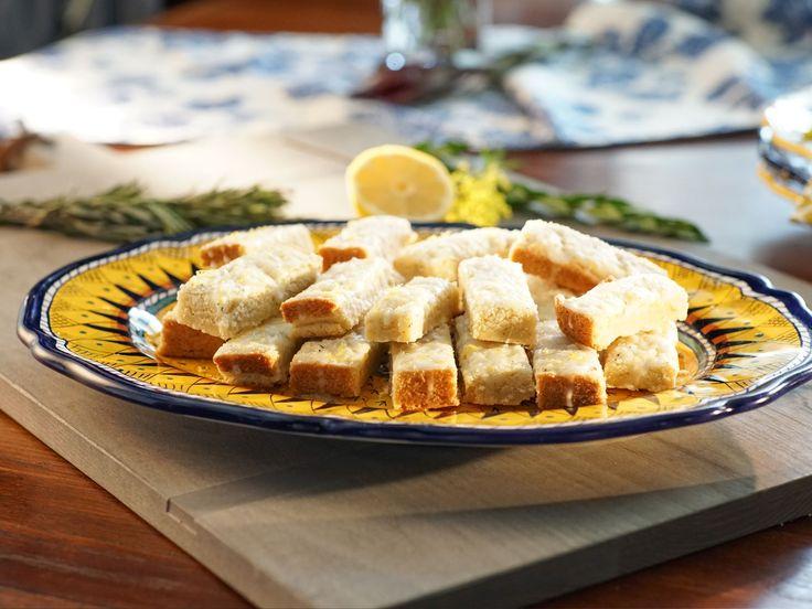 Rosemary-Lemon Shortbread Cookies recipe from Valerie Bertinelli via Food Network