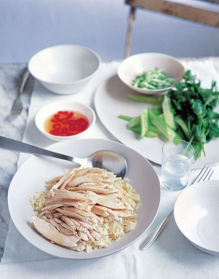 Hainanese chicken rice by Anjum Anand from Eat Right For Your Body Type | Cooked