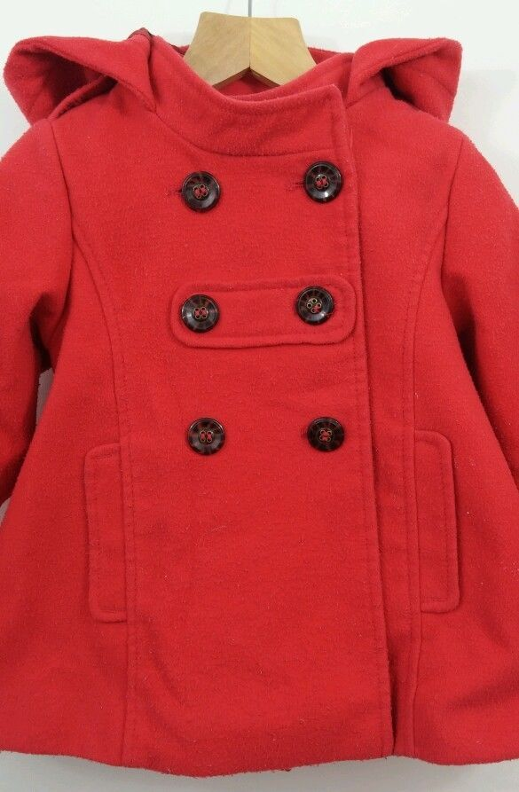 Girls coat red 18-24 months Next red autumn winter spring hooded
