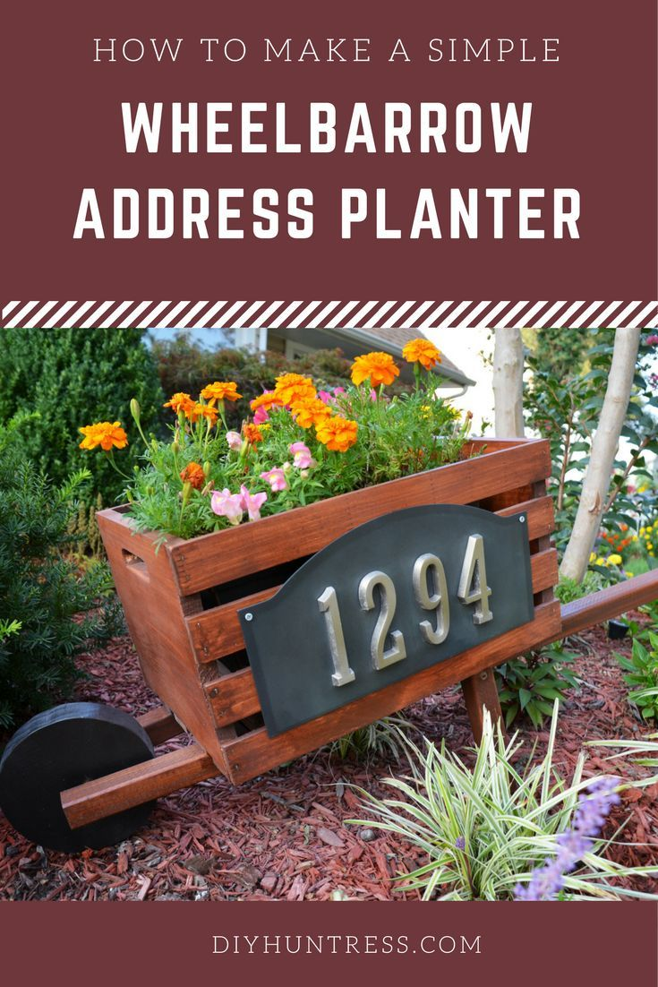 DIY Woodworking Ideas Make a simple and easy Wheelbarrow Planter for your home address!