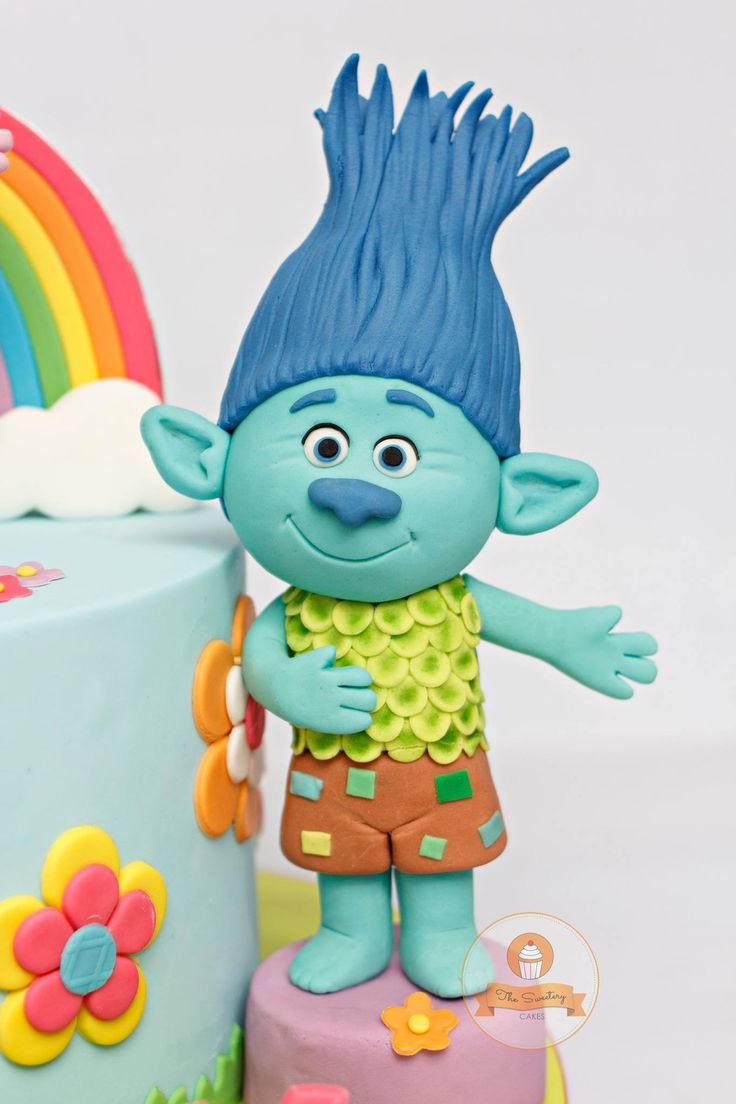 Cake Decoration Trolls : Trolls cake biscuit Pinterest Cake, Birthdays and ...