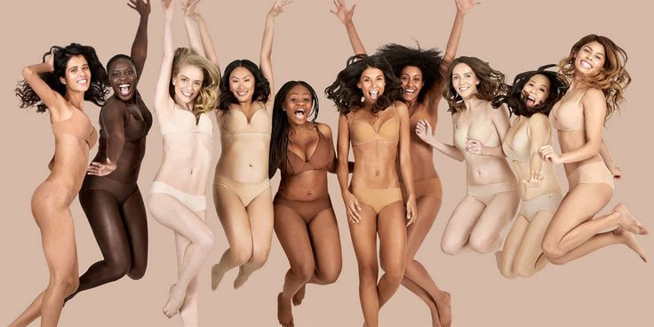 """Finally, a Lingerie Collection for ALL Shades of """"Nude""""  - ELLE.com"""