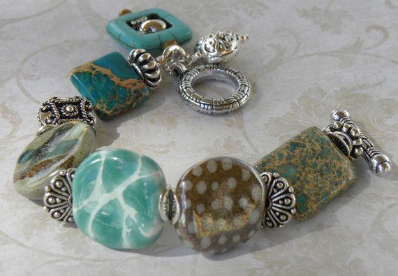 Kazuri African Beads Handmade Beaded by bdzzledbeadedjewelry, $43.00