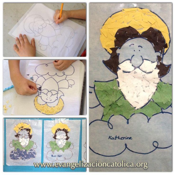 actividad para nios pequeos sobre la figura de pap dios hecho en mosaico