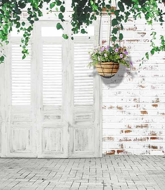 5x10ft Indoor Old White Door Brick Wall Floordrop Vintage Wedding Photography St In 2020 Studio Backdrops Backgrounds Backdrops Backgrounds Photography Vinyl Backdrops