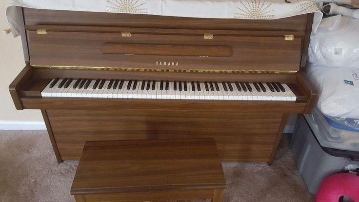 Yamaha Upright Piano with matching bench, walnut finish - local pickup #Yamaha