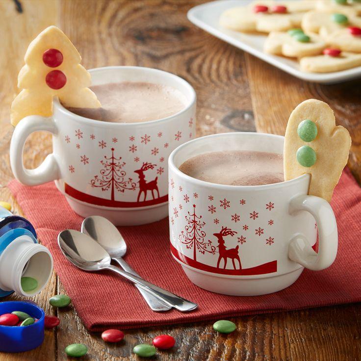 Add a notch to a sugar cookie to turn it into a mug's BFF!
