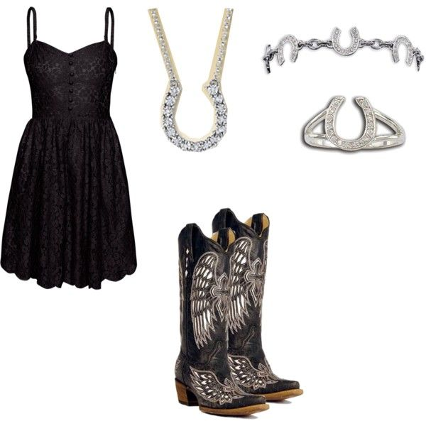 (:Fashion, Horseshoecowgirl Bootssun, Clothing, Country Style, Country Girls, Outfit, Little Black Dresses, The Dresses, Cowgirls Boots