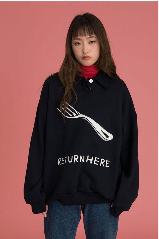 Aliexpress.com: Koop Lange Mouwen Vrouwen Trui Sweatshirts Koreaanse Mode 2017 Lente Nieuwe Dames Losse Casual Tops Brief Afdrukken Turn down Kraag van betrouwbare sweatshirt korean leveranciers op SZ Xuan Nisan Trading Co. Store