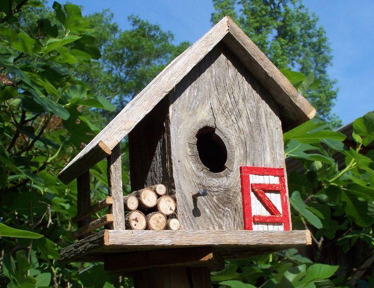 Old barn wood bird houses bird houses barn style - Old barn wood bird houses ...