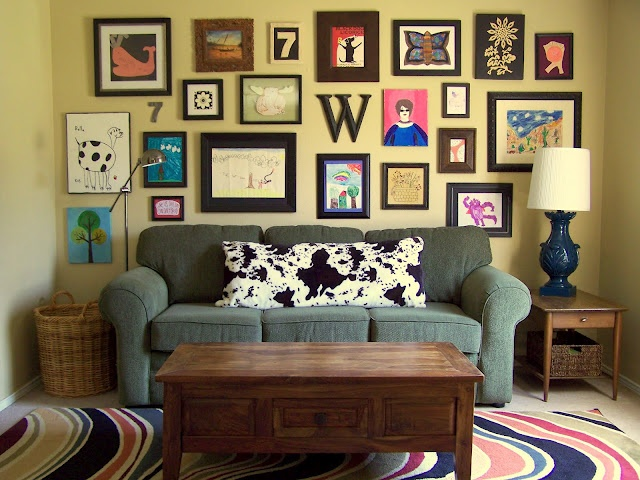 some day I will have a collection of pictures like this... love it: Body Pillows, Idea, Couch, Older, Collage Wall, Gallery Wall, Photo, Art Wall, Kid